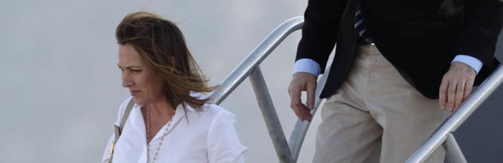Foto: Viri, la mujer de Rajoy, sale de su 'escondite'