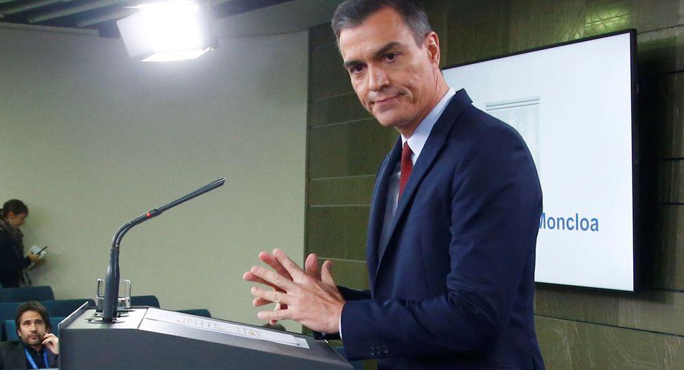 Foto: Pedro Sánchez, durante una rueda de prensa. (Reuters)