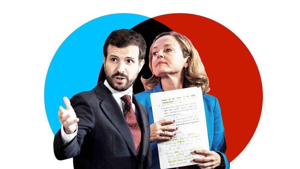 El Ibex y Bruselas se encomiendan a Calviño y Casado para garantizar la estabilidad