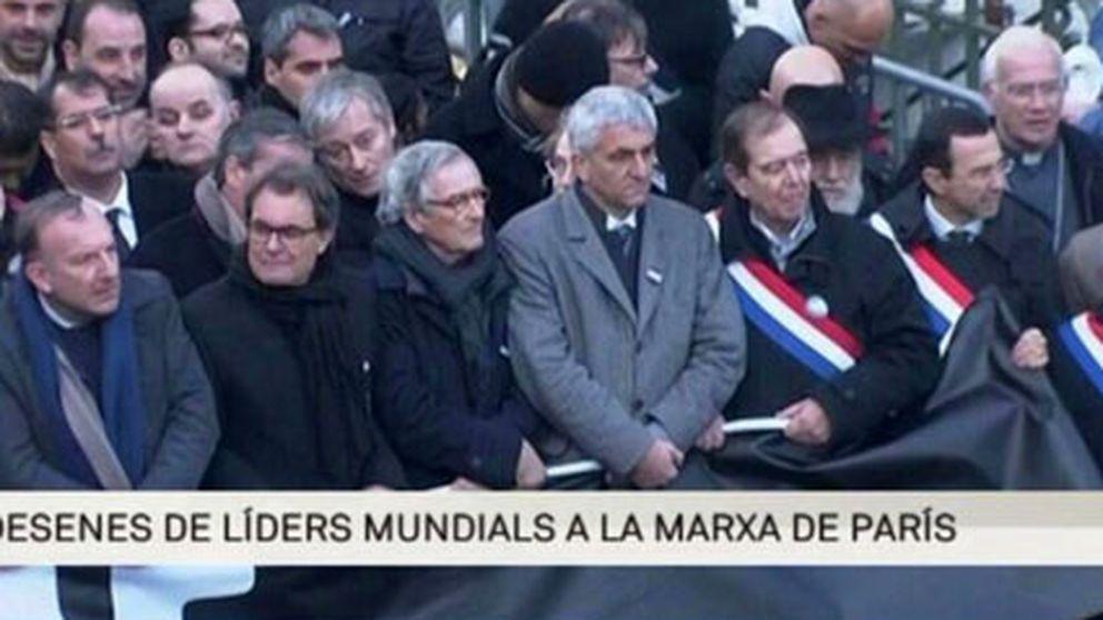 Críticas a TV3 por llamar a Artur Mas líder mundial en París
