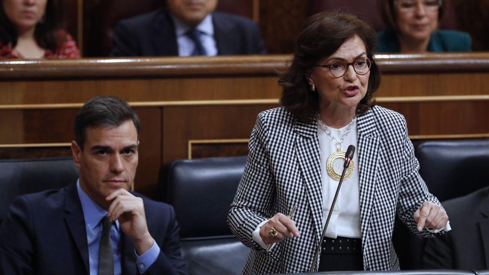 Foto: Carmen Calvo, en el Congreso. (EFE)