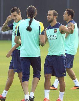 Foto: Montoya durante el entrenamiento (Efe).
