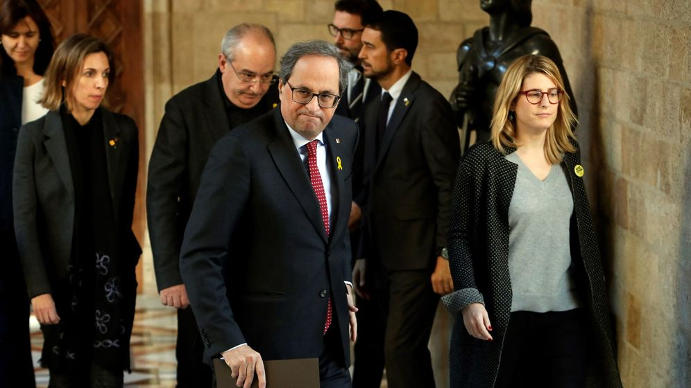 Foto: Declaración institucional del presidente de la Generalitat, Quim Torra. (EFE)