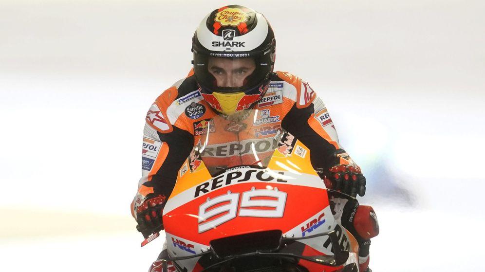 Foto: Jorge Lorenzo con su Honda. (EFE)
