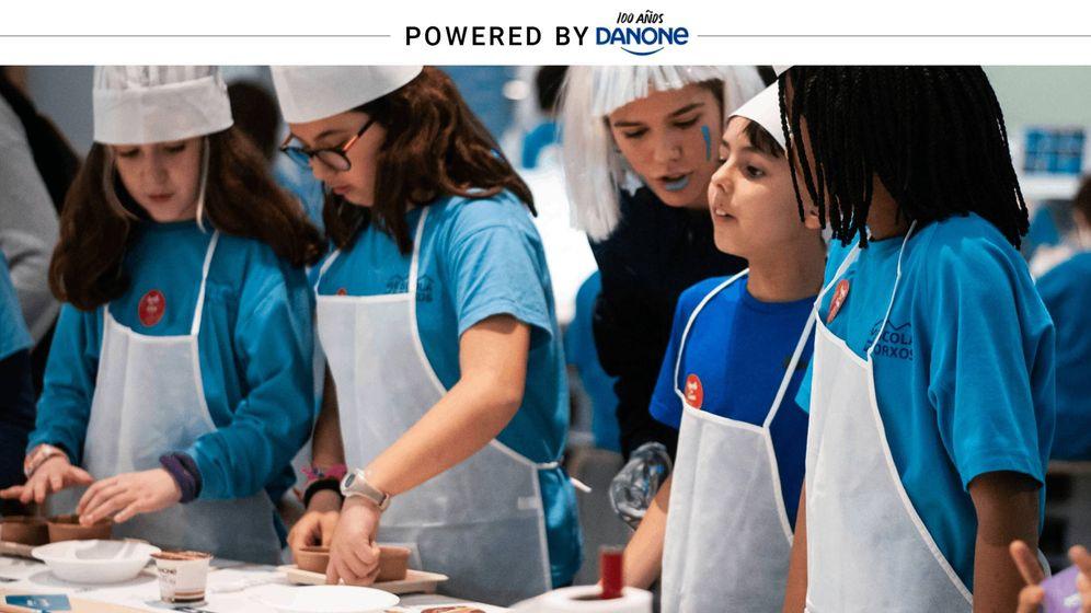 Foto: Niños durante el segundo taller (Carmen Castellón).