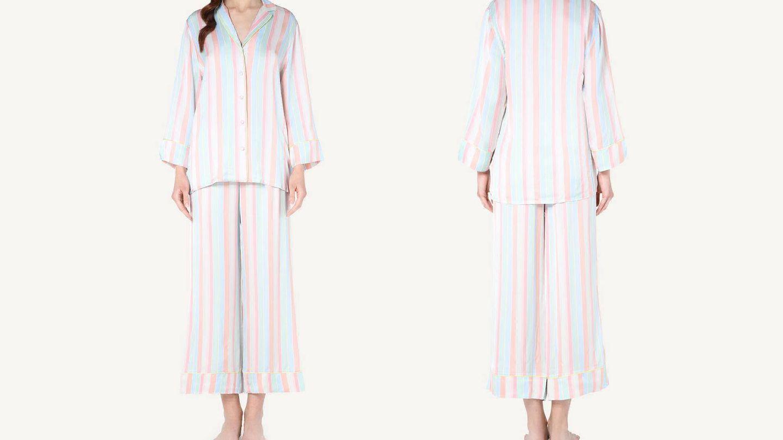 Pijama de Intimissimi de raso. (Cortesía)
