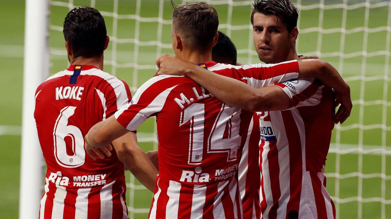 El VAR anuló el primer y segundo gol del Atlético, este último de Morata. (EFE)