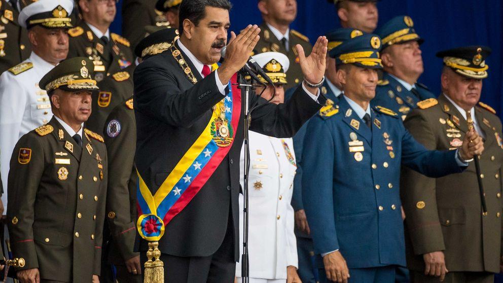 El supuesto ataque de dos drones contra Maduro, en imágenes