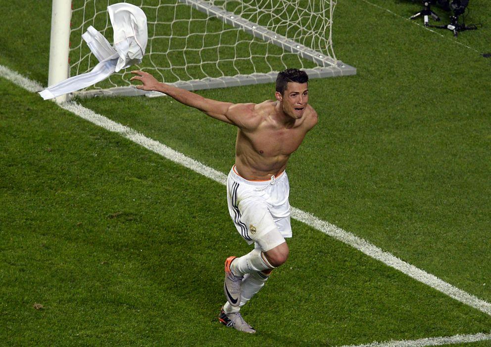 Foto: Cristiano celebra su gol al Atlético de Madrid.