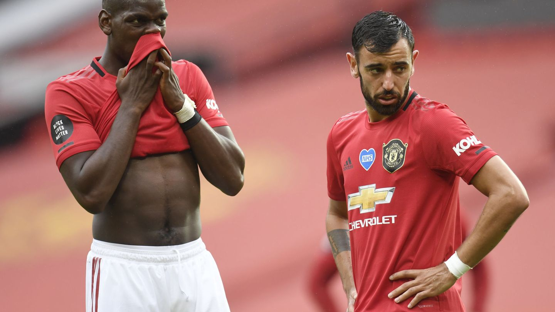 Pogba y Fernandes, dos amenazas para Imanol. (Reuters)