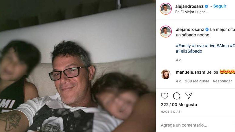 Sanz y sus hijos. (Instagram @alejandrosanz)