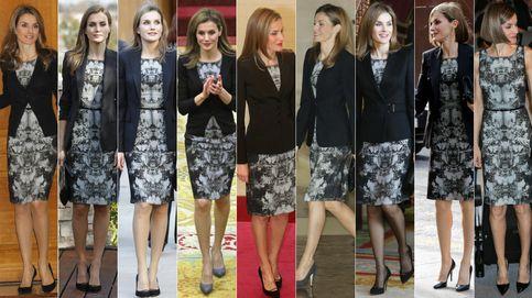 Doña Letizia y el 'inmortal' vestido de Hugo Boss que repite por novena vez