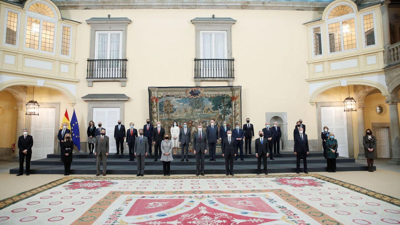 Una audiencia de Felipe VI en el palacio de El Pardo, gestionado por Patrimonio. (EFE)