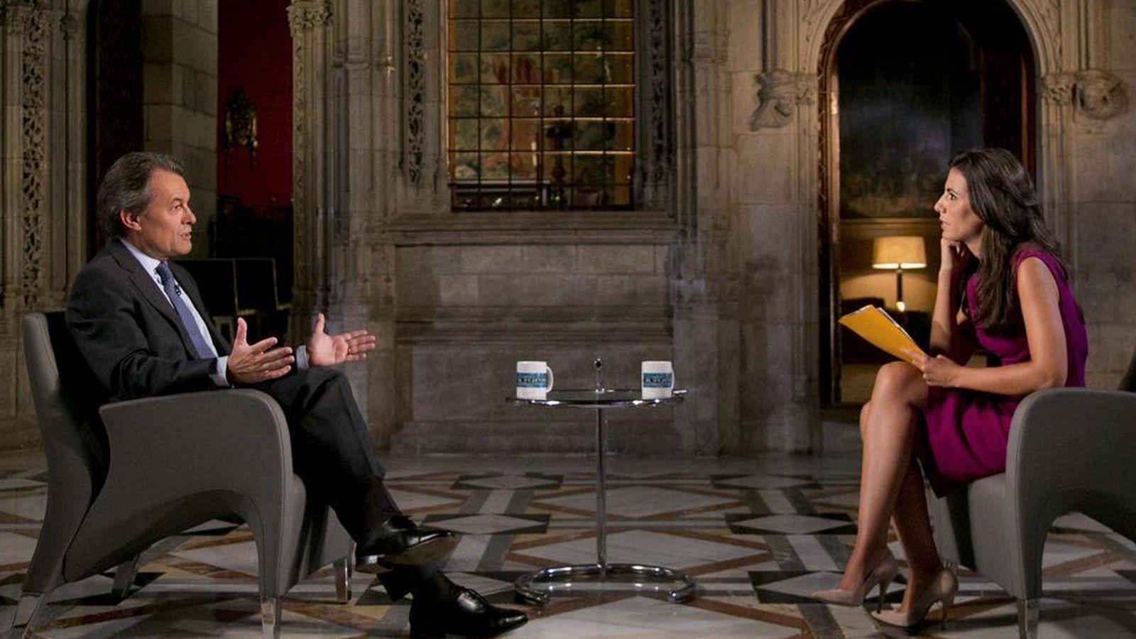 Foto: Entrevista de Artur Mas en el Palau de la Generalitat. Foto: @govern