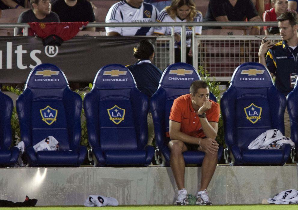 Foto: Chicharito en Estados Unidos durante la pretemporada del Manchester United (Efe).