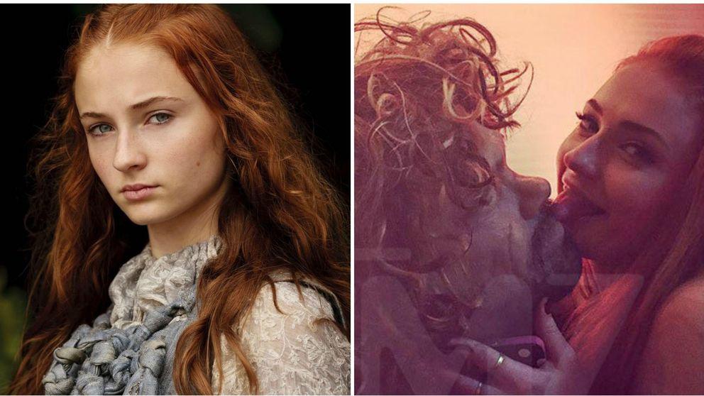 'Juego de tronos' - El apasionado beso con lengua entre Sansa Stark y un fan
