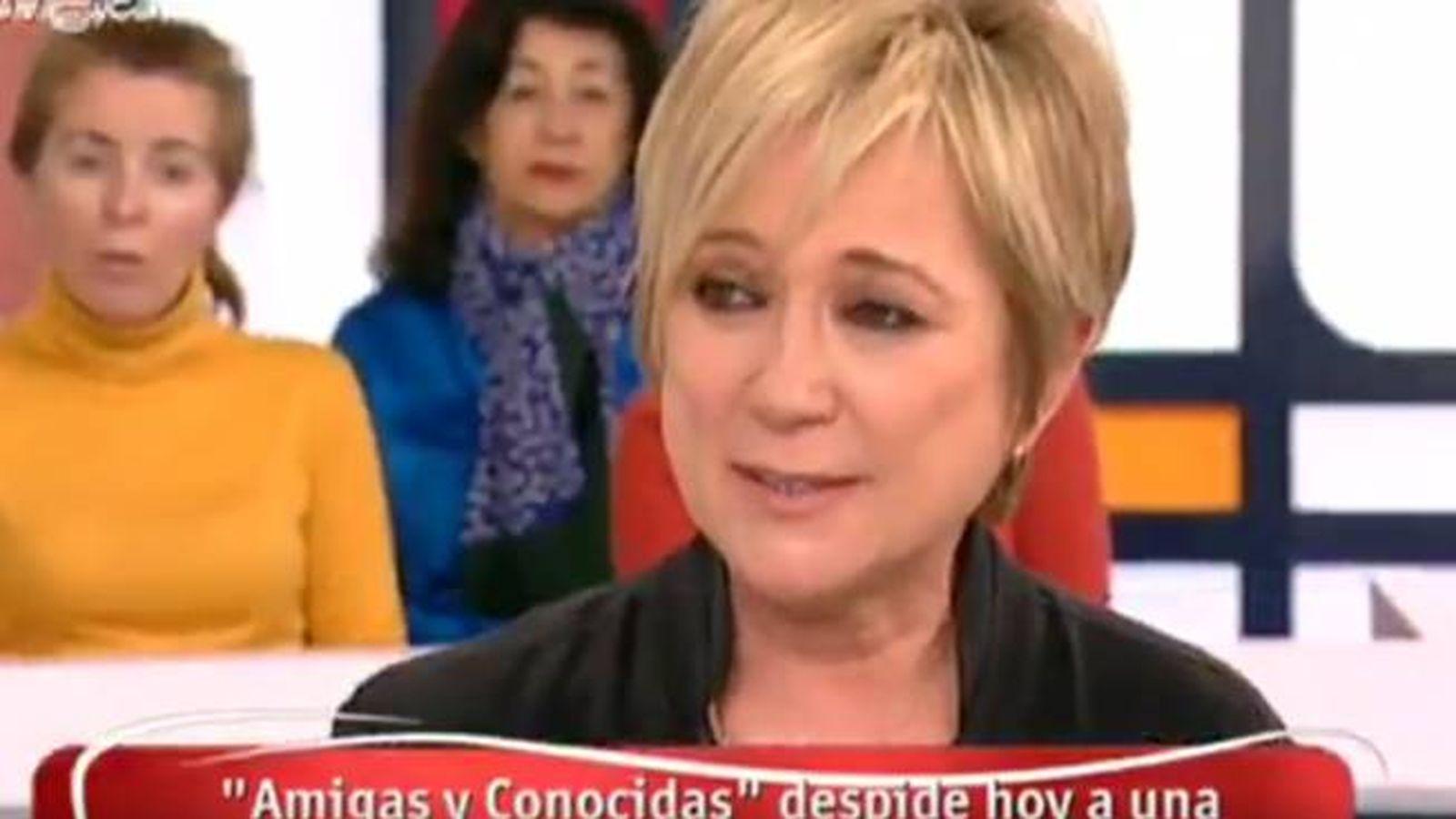 Foto: Inés Ballester despide en 'Amigas y conocidas' a Paloma Gómez Borrero.
