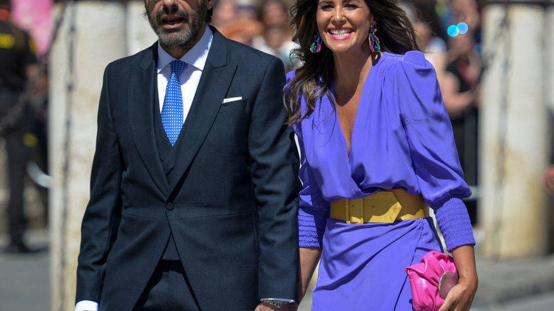Nuria Roca en la boda de Pilar Rubio y Sergio Ramos. (Getty)