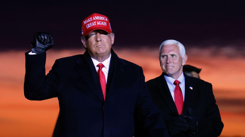 Donald Trump y su vicepresidente Mike Pence de campaña. (REUTERS)