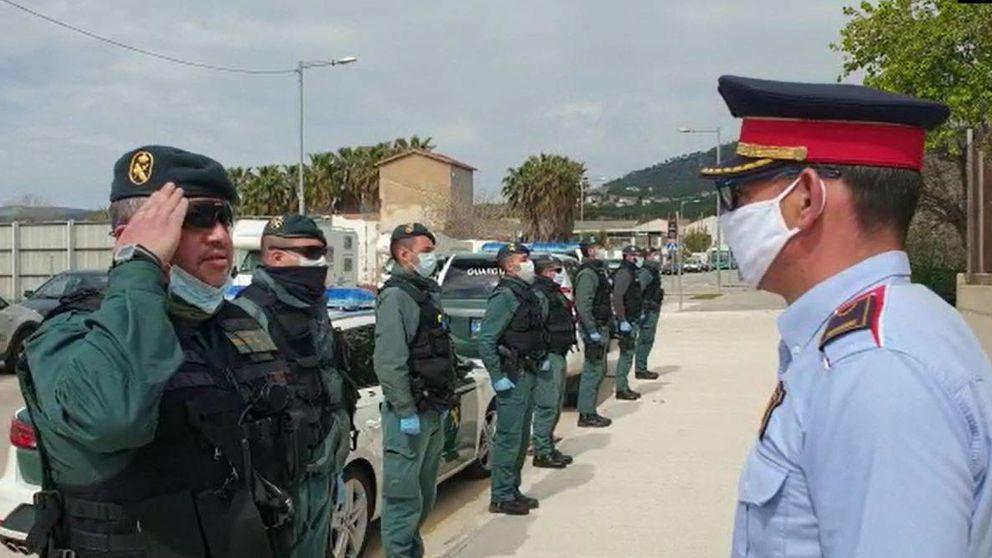 El vídeo de unidad que deja el coronavirus: la Guardia Civil da el pésame a los Mossos