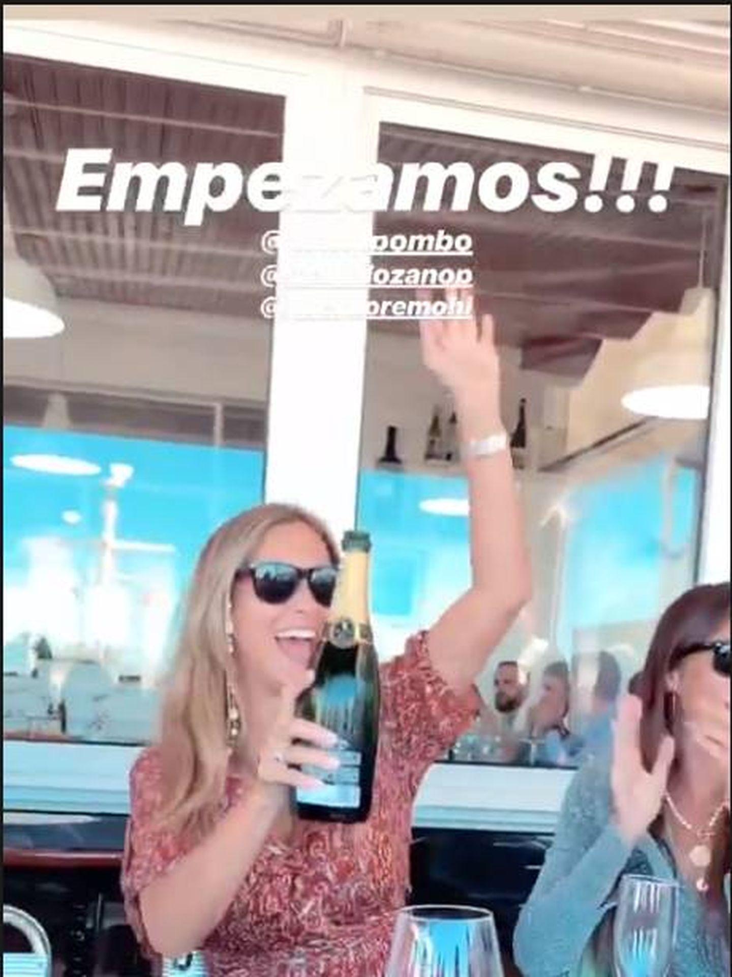 María Pombo en su celebración preboda. (IG)