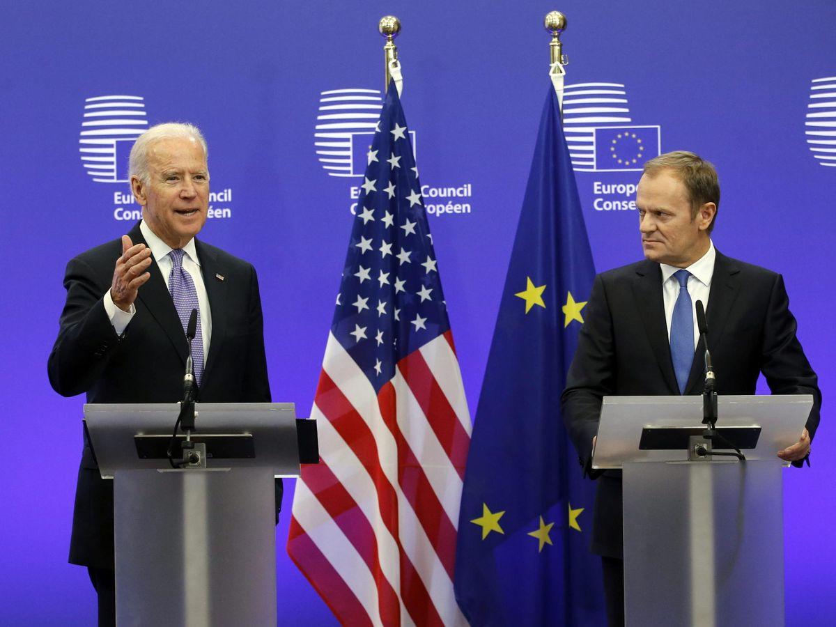 Foto: Biden en su visita a la UE (EFE)