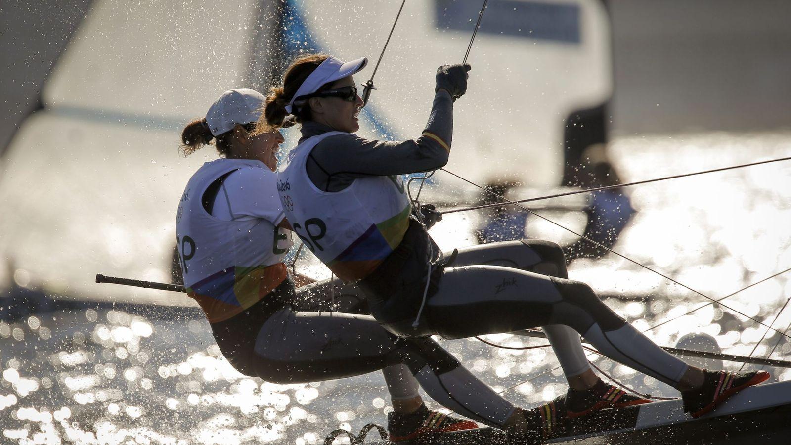 Foto: Tamara Echegoyen Dominguez y Berta Betanzos compitiendo en Río (Olivier Hoslet/EFE)