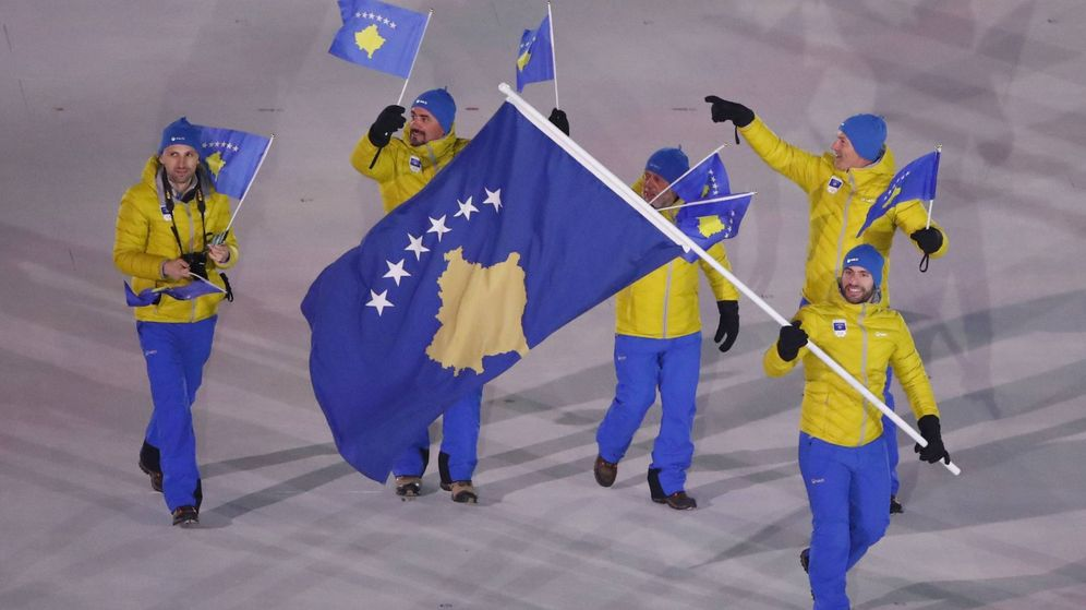 Foto: Kosovo no pudo desfilar con su bandera en los Juegos Mediterráneos de Tarragona como si hicieron en los JJOO de PyeongChang (en la imagen). (Reuters)