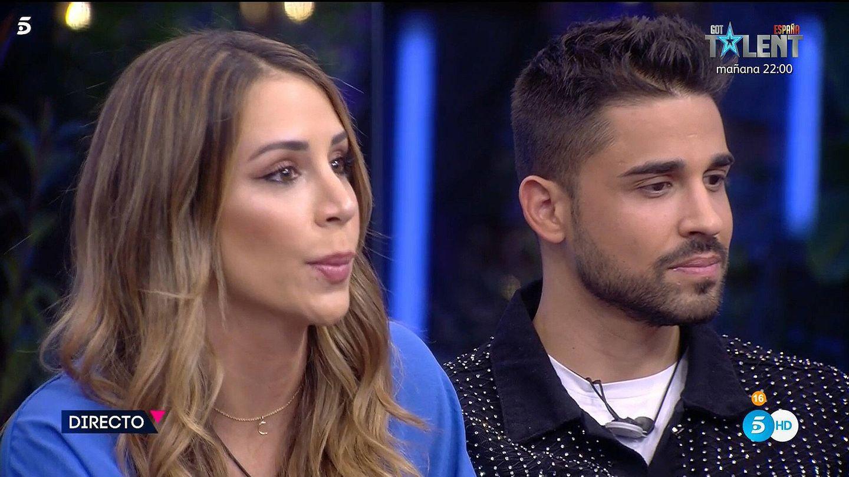 Cristina Porta y Miguel Frigenti, en 'Secret Story'. (Mediaset)