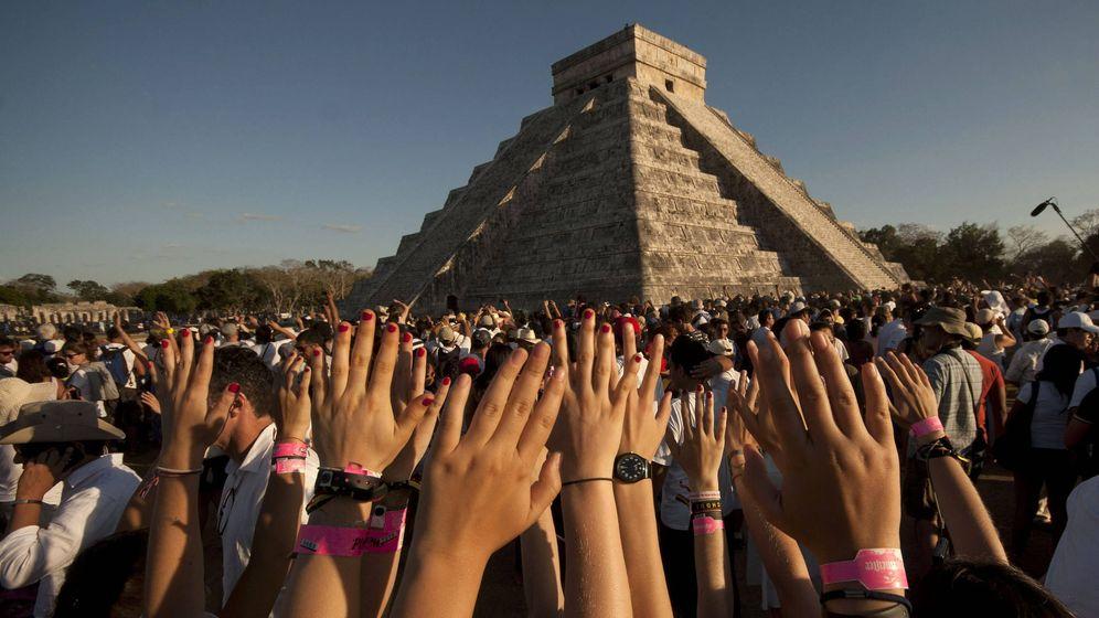 Foto: Celebración del equinoccio de primavera en Chichén Itzá, enclave de la extinta civilización maya en México. (EFE)