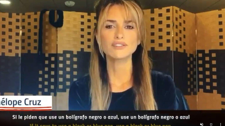 Penélope Cruz, en el vídeo para sensibilizar sobre el voto. (Instagram @penelopecruzoficial)