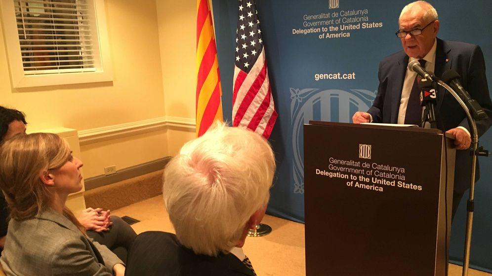 Foto: Ernest Maragall, en la embajada (EC)