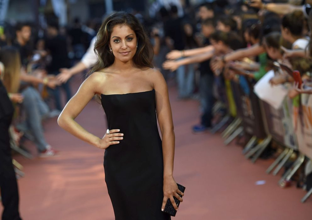 Foto: La actriz Hiba Abouk, en la clausura del Festival de Televisión de Vitoria en septiembre (Gtres)