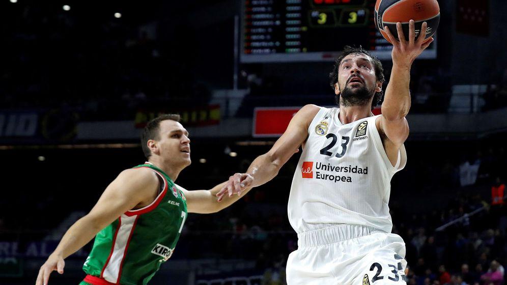 Foto: Sergio Llull, que venía de quedarse a cero en Milán, fue el máximo anotador ante el Baskonia con 23 puntos. (EFE)