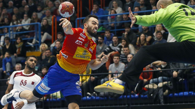 Álex Costoya debutó con la selección española en el Memorial Domingo Bárcenas disputado antes del Mundial (Javier Etxezarreta/EFE).