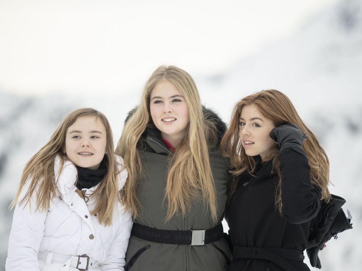 Foto: Ariane, Amalia y Alexia, en 2020. (EFE)