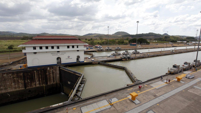 La esclusa de Miraflores, en el sector del Pacífico del Canal de Panamá. (EFE)