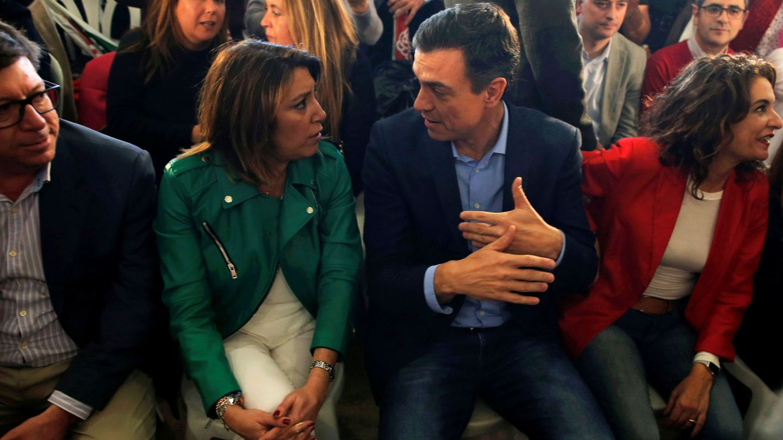 Susana Díaz y Pedro Sánchez. (Reuters)