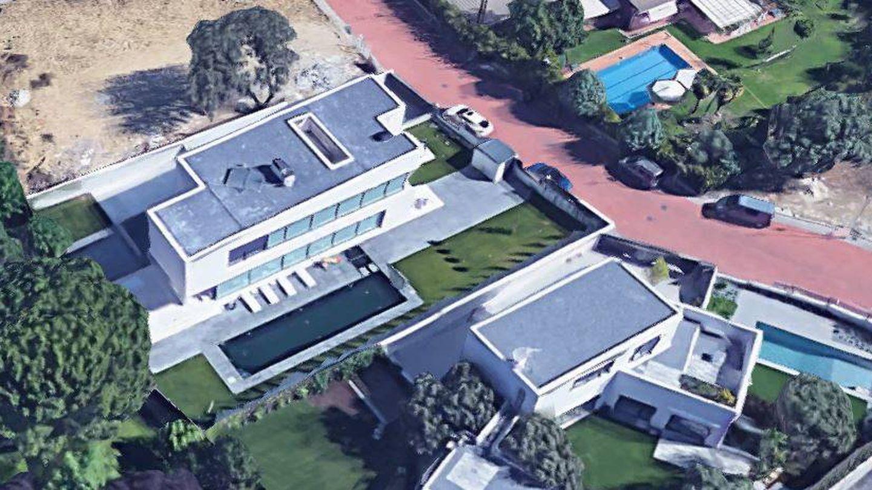 La casa de Feliciano, que le enseñó a Bertín desde el aire.