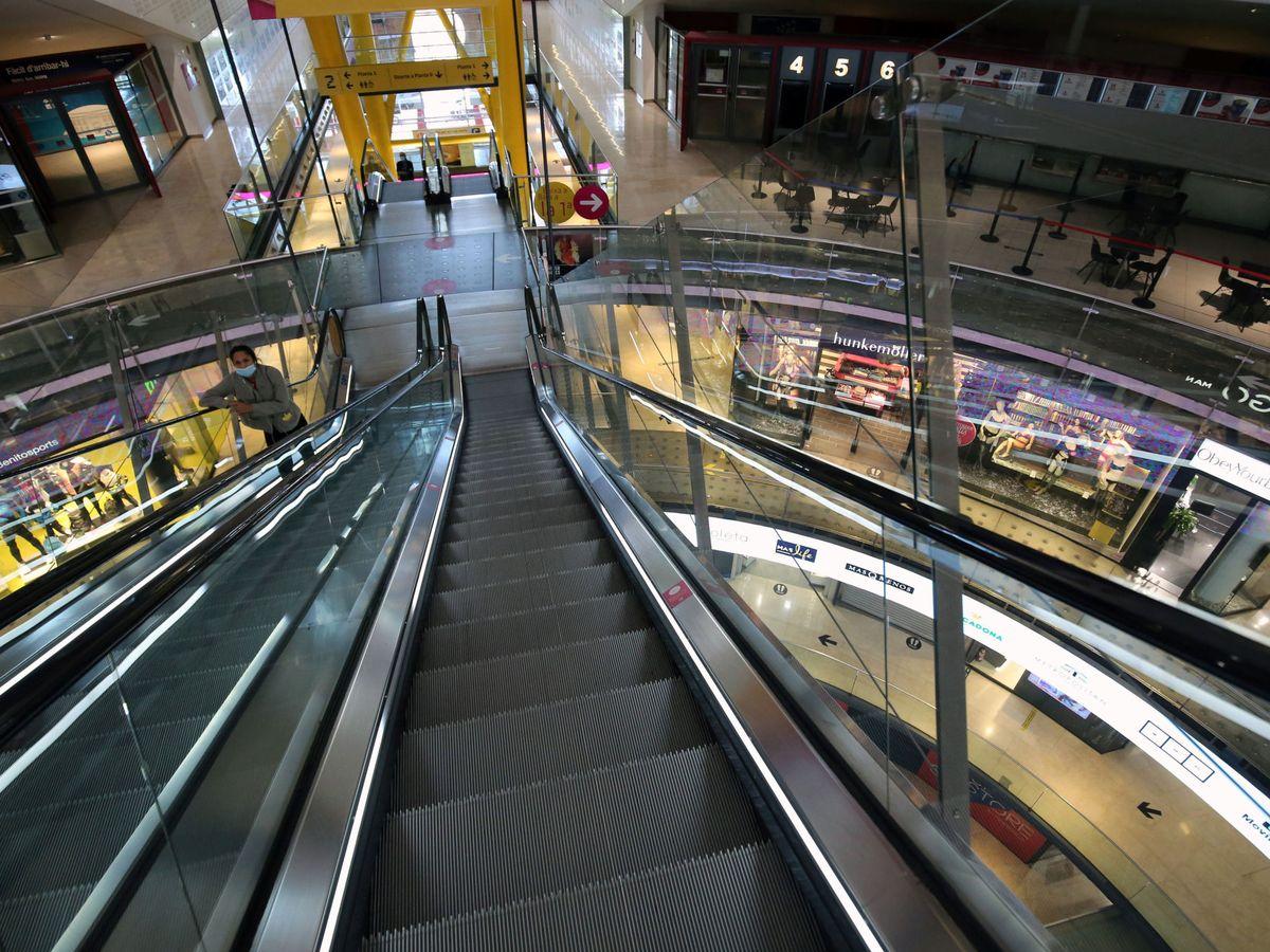 Foto: Centro comercial Arenas de Barcelona, casi vacío, el pasado 7 de octubre. (Reuters)
