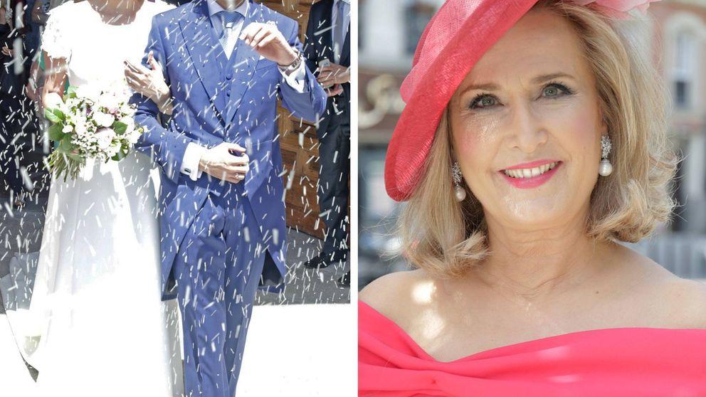 Nieves Herrero emocionada en la boda de su hija mayor