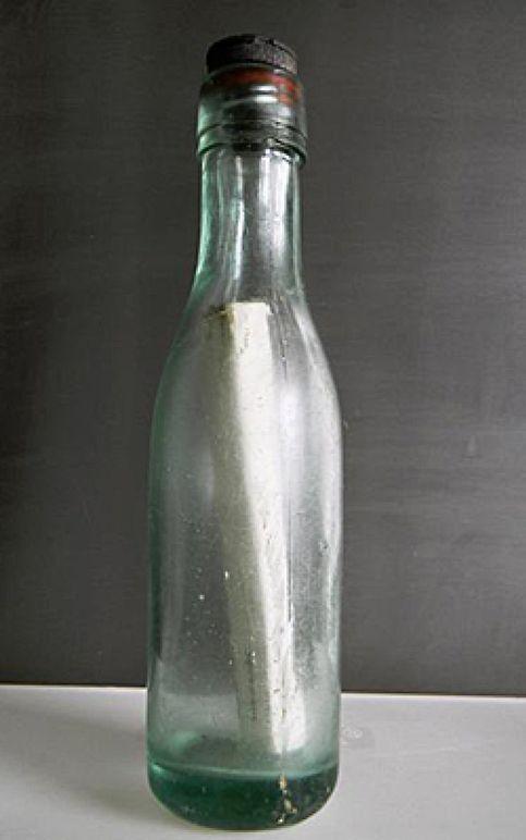 Un mensaje en una botella… de hace 98 años