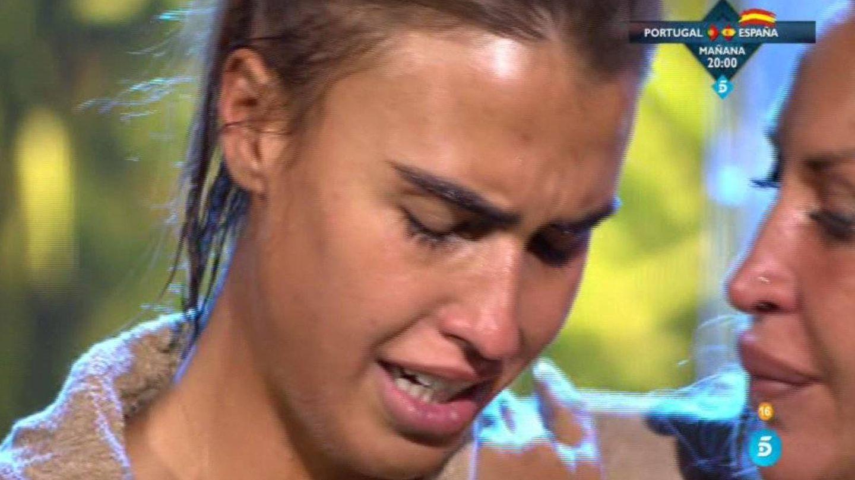 Sofía llorando en la final de 'Supervivientes'. (Telecinco)