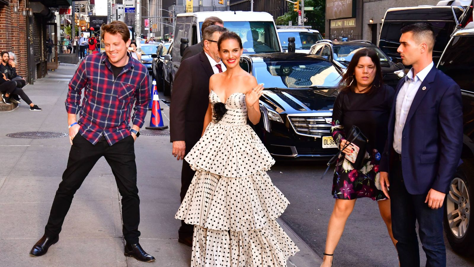 Foto: Natalie Portman este jueves en Nueva York.(Getty)