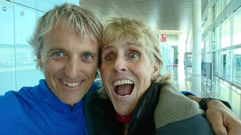 Foto: Jesús Calleja y Mercedes Milá antes de partir al Ártico