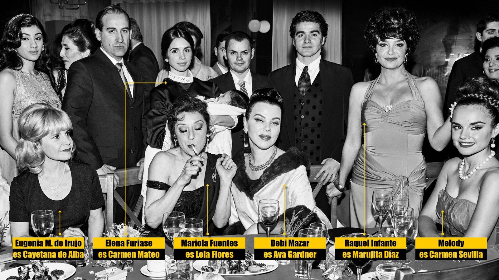 Foto: Todos los personajes de 'Arde Madrid' (FOTO: Jorge Fuembuena)