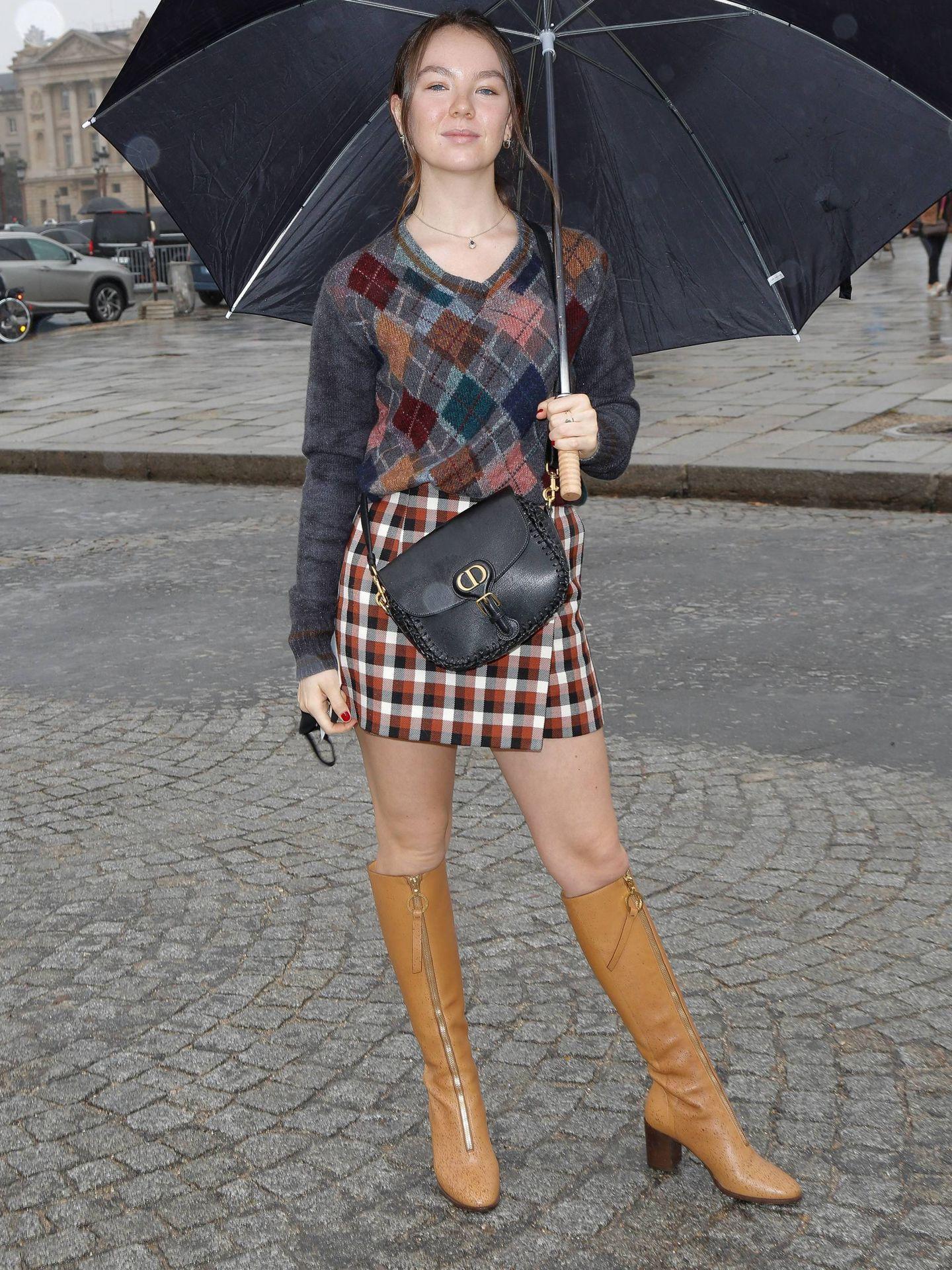 Alexandra de Hannover, en el desfile de Dior. (Cordon Press)