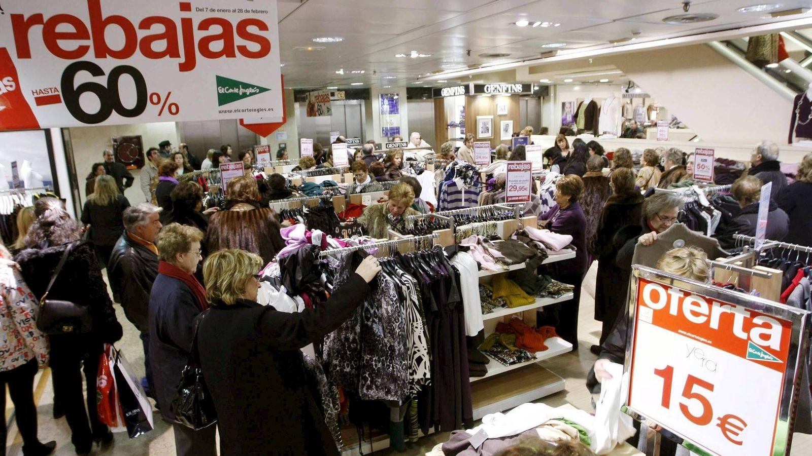 Foto: Rebajas en El Corte Inglés. (EFE)