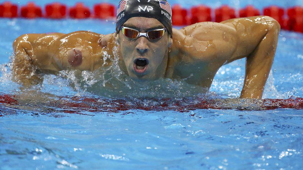 ¿Qué son los círculos rojos que luce Phelps en su cuerpo?