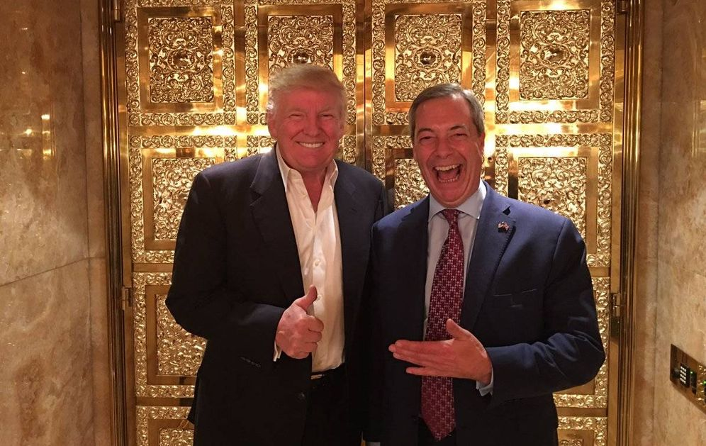 Foto: Donald Trump y Nigel Farage, durante su encuentro en la Trump Tower (@Nigel_Farage)